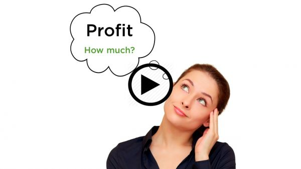 PPoint for How much profit thumbnail with arrow